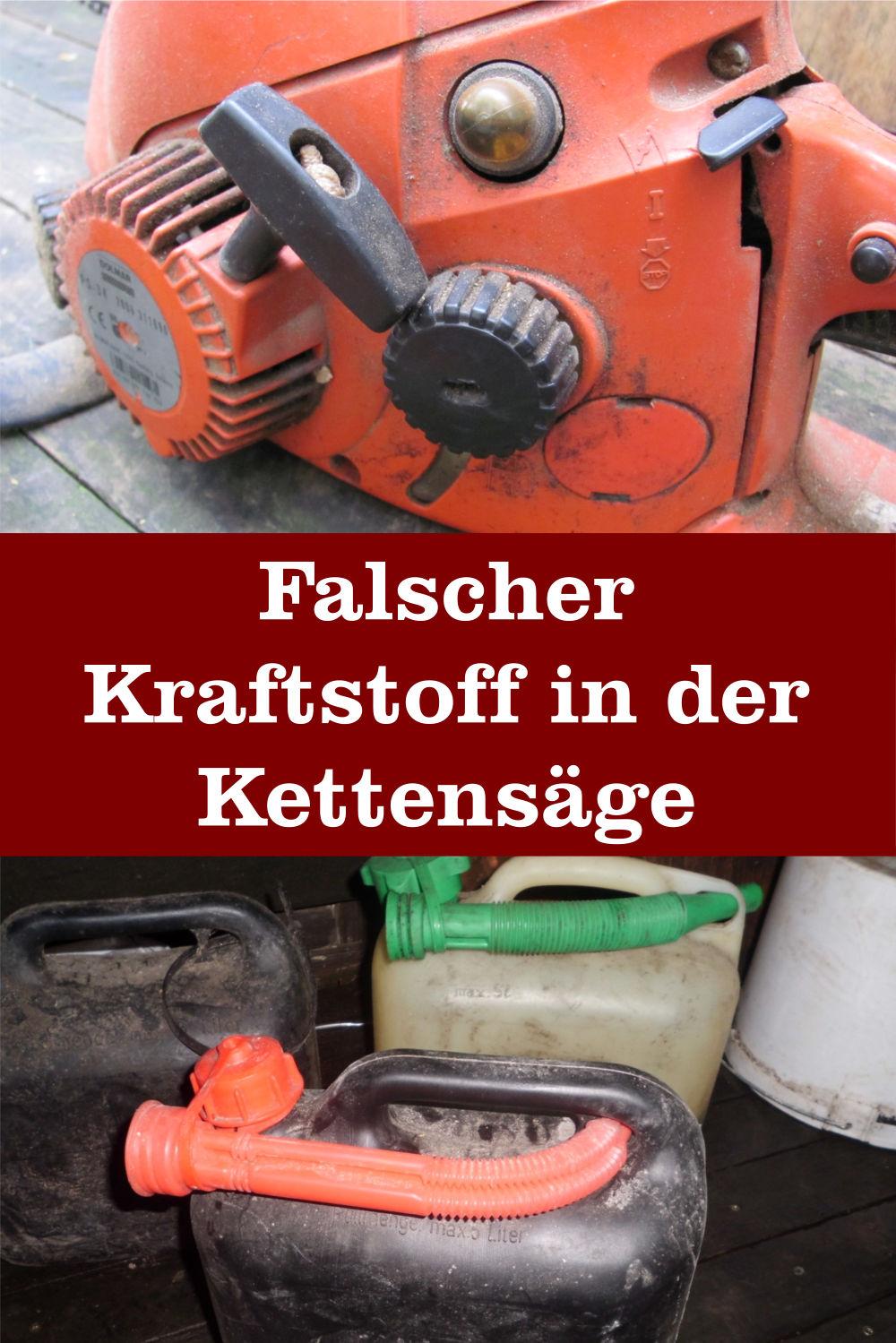 Lieblings Falscher Kraftstoff in der Motorsäge › Kettensäge Ratgeber #XB_67