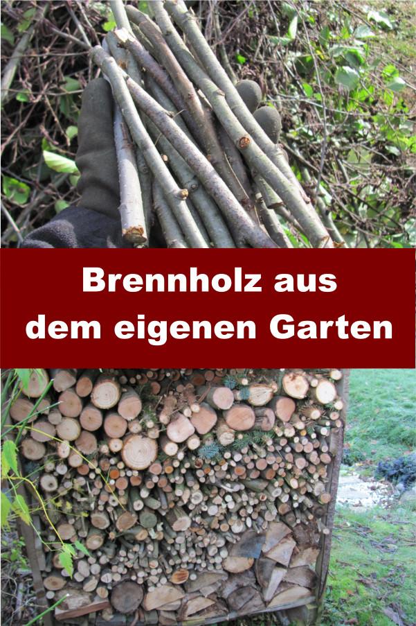 Brennholz sägen Garten