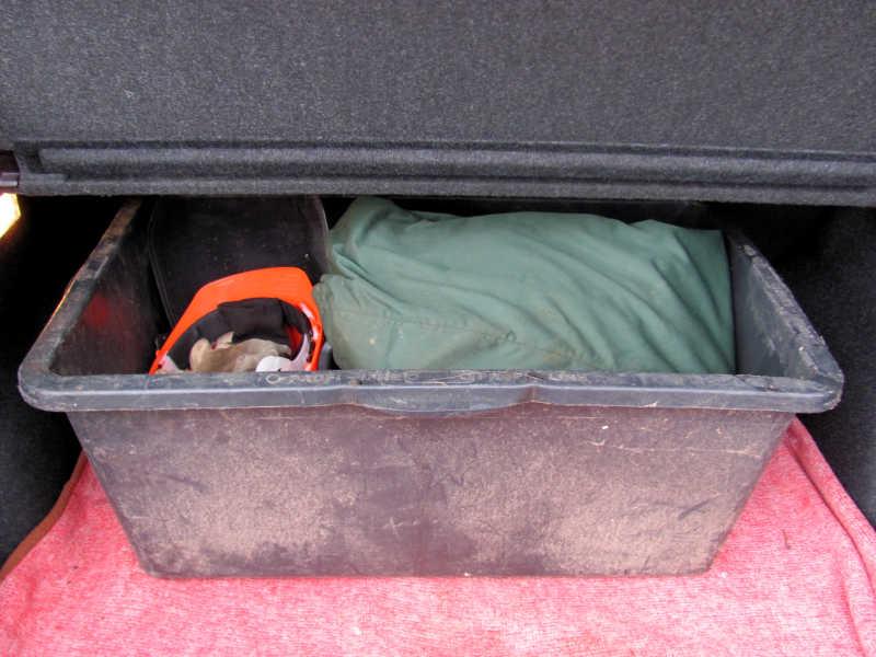 Kettensäge im Auto transportieren