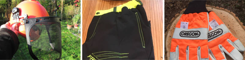 Schutzausrüstung für Kettensäge