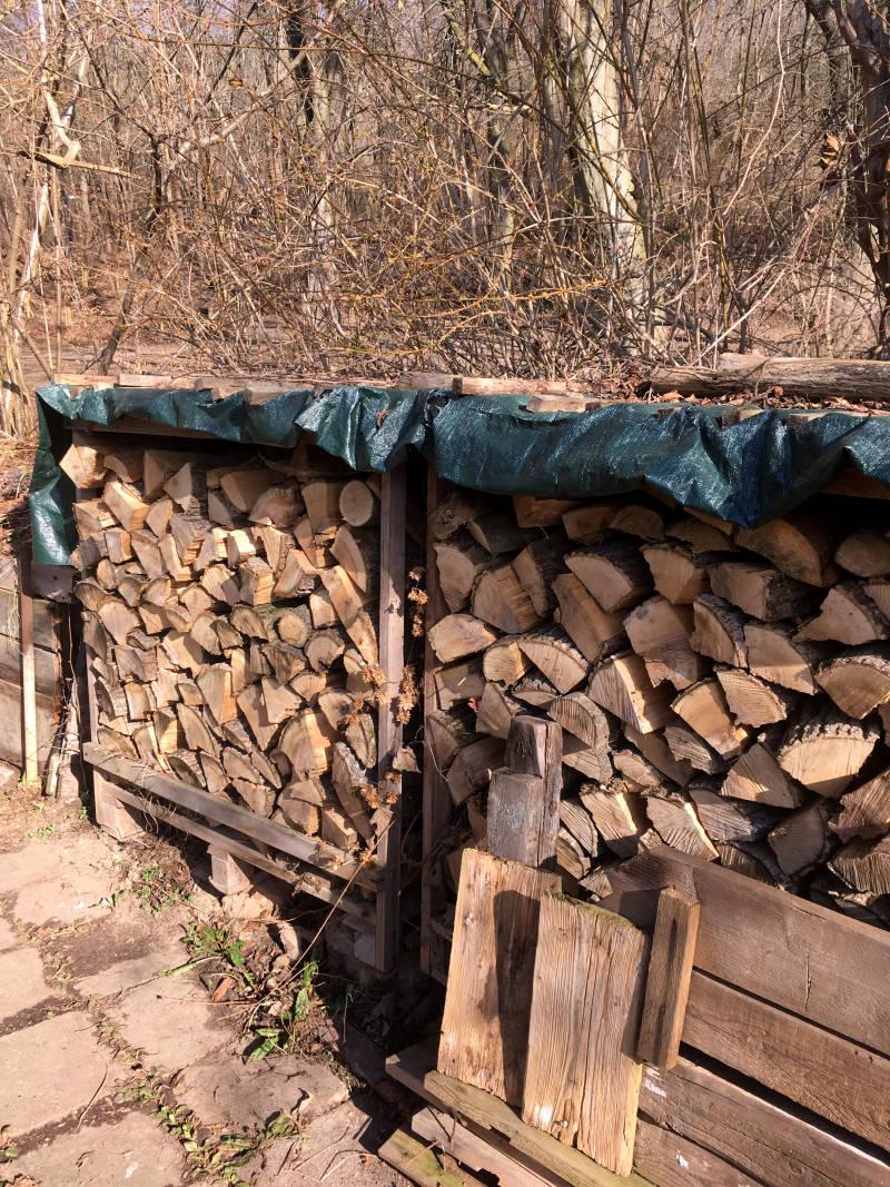 Holz lagern Grundstück