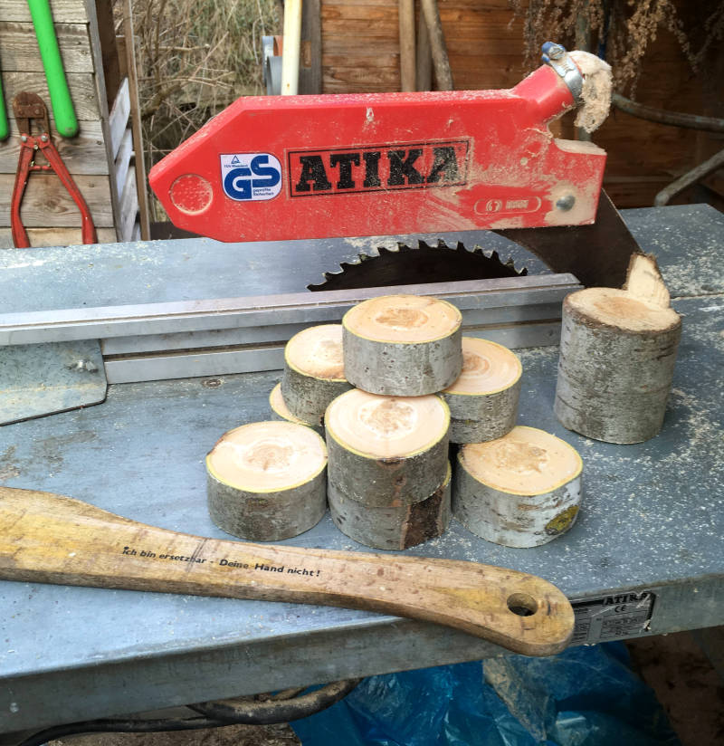 Holzuntersetzer Kreissäge sägen