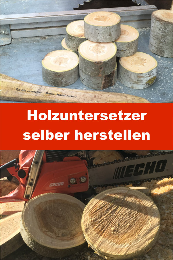 Holzuntersetzer selber herstellen
