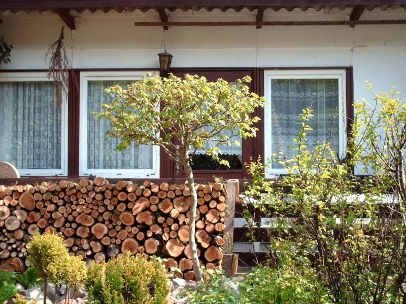 Holzwand Terrasse