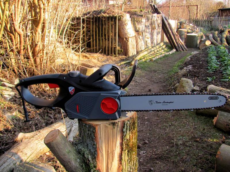 Elektro Kettensäge für Garten