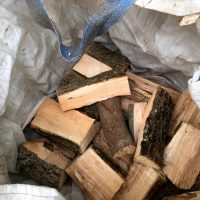 Big Bags Brennholz trocknen