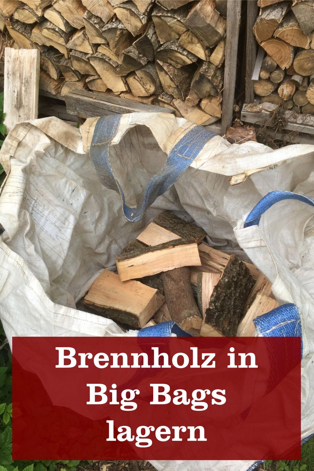 Brennholz Big Bag lagern