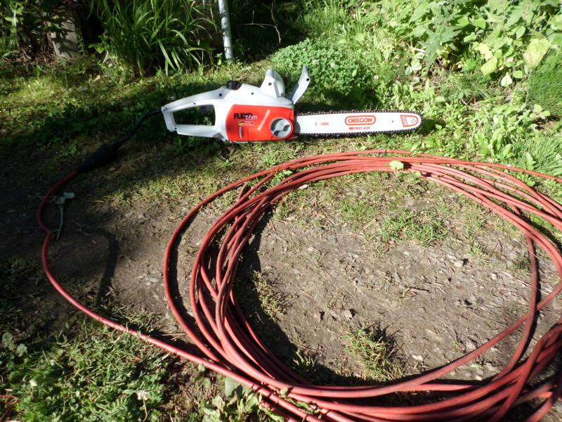 Elektro-Kettensäge Stromkabel