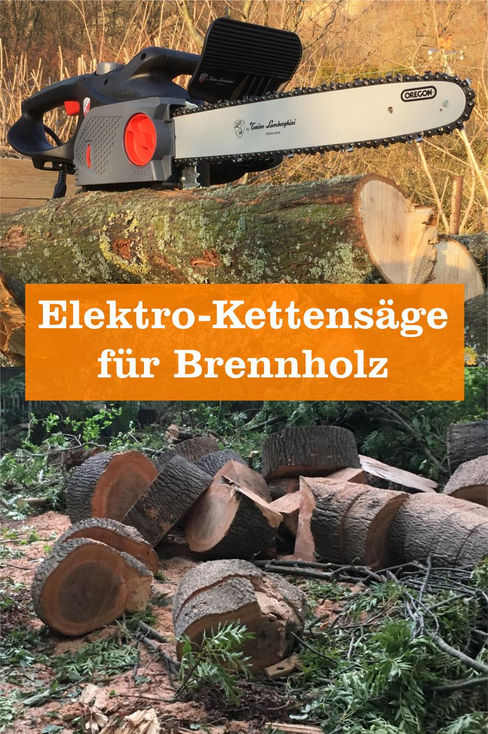 Elektro-Kettensägen für Brennholz