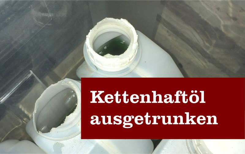 Kettenhaftöl ausgetrunken
