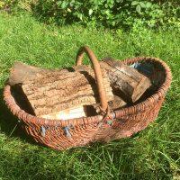 Brennholzkorb aus Weide