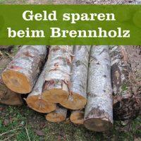 Geld sparen Brennholz