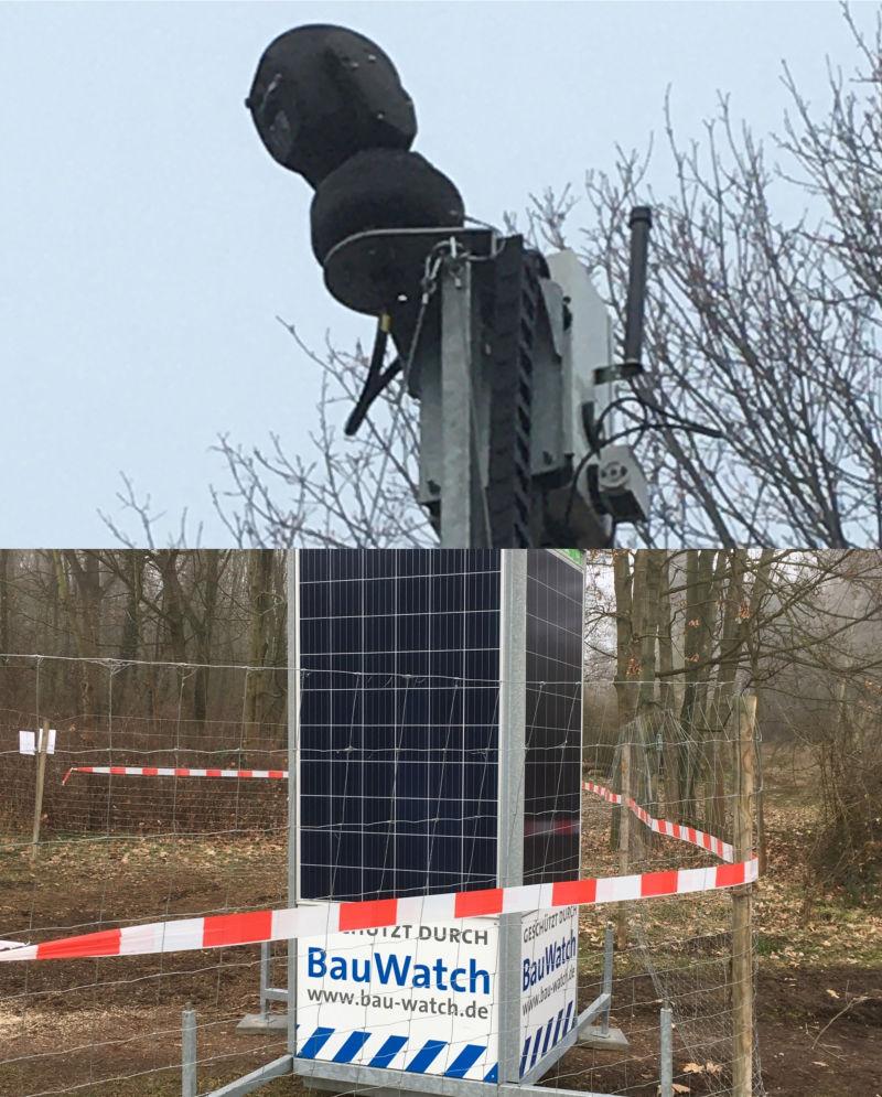 Holz mit Kamera überwachen