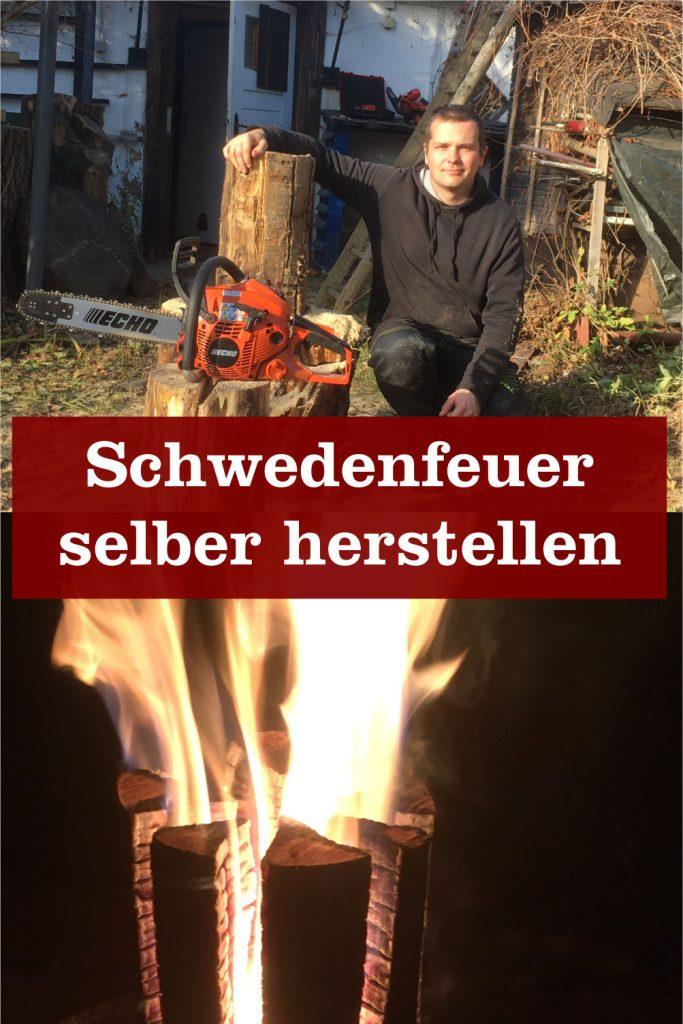 Schwedenfeuer selber herstellen