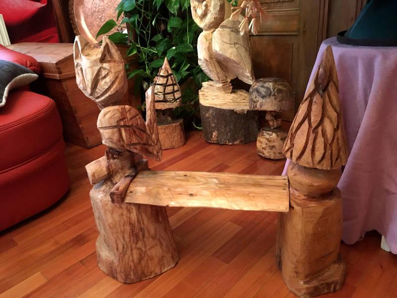 Holzfiguren mit Holzschutz