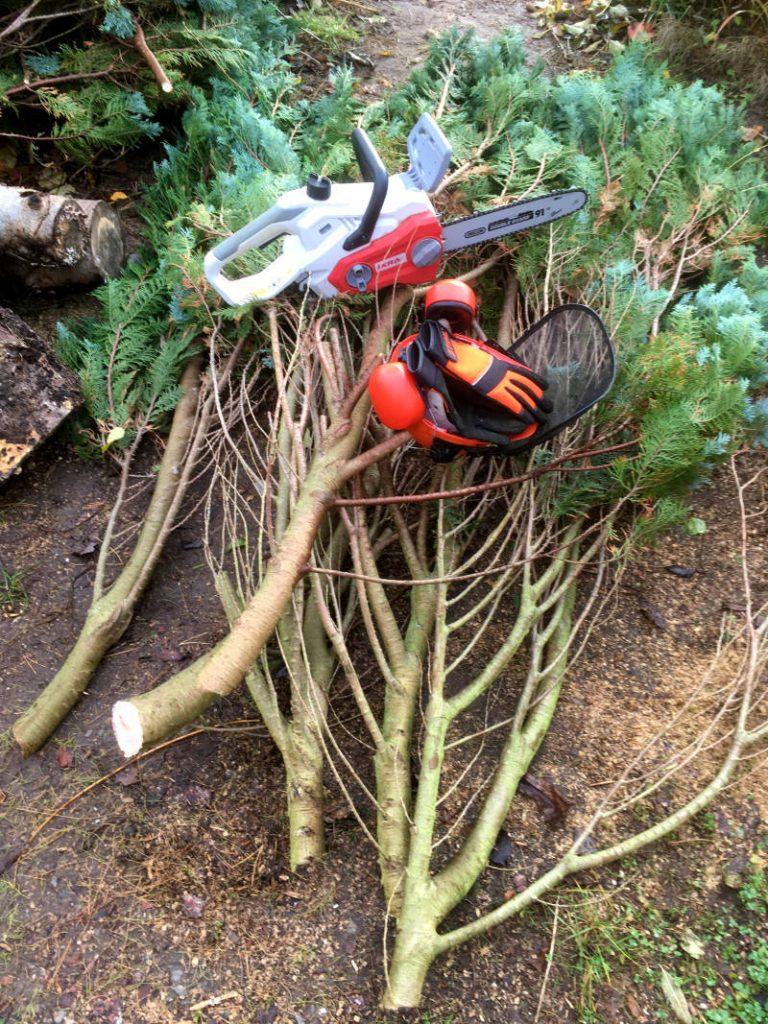 Holz Garten Akku Kettensäge